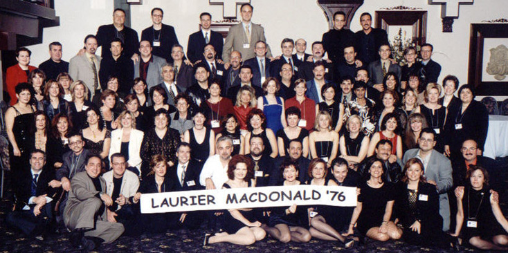 Laurier Macdonald 25th Anniversary Reunion Class of 1976